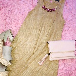 Camel Derek Heart Swing Dress